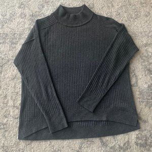 LOFT Mock Neck Sweater (grey)